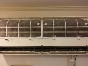 エアコンのハウスクリーニングを川崎市中原区上新城にて【清掃事例153】