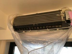 エアコンのハウスクリーニングを川崎市川崎区中瀬にて【清掃事例605】