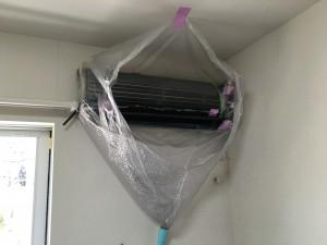 エアコンのハウスクリーニングを川崎市中原区木月祇園町にて【清掃事例719】