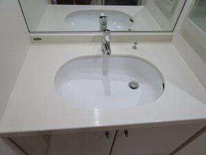 洗面のハウスクリーニングを川崎市中原区等々力にて【清掃事例936】