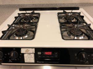 キッチン(五徳)のハウスクリーニングを東京都港区西麻布にて【清掃事例1040】