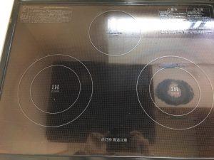 キッチン(IH)のハウスクリーニングを川崎市幸区小倉にて【清掃事例1059】