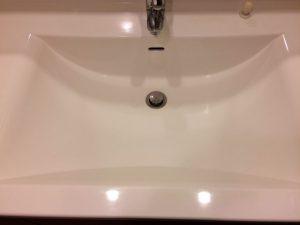 洗面所のハウスクリーニングを川崎市高津区明津にて【清掃事例1431】